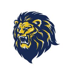 wild lion head logo mascot vector image