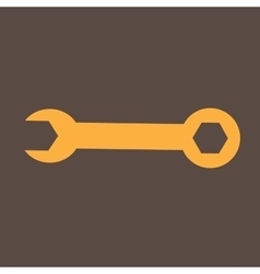 Wrench industrial flat icon vector image