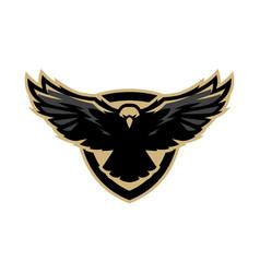 eagle in flight logo symbol vector image vector image