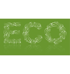 eco lettering vector image vector image