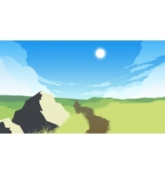 Field landscape vector