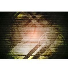 Grunge dark tech background vector