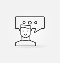 Man with speech bubble icon vector