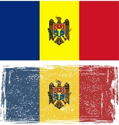 Moldovan grunge flag vector image vector image