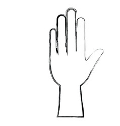 monochrome blurred silhouette of left hand vector image