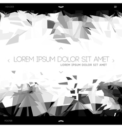 Polygonal design abstract web template vector image vector image
