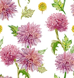 seamless texture watercolor flowers golden-daisy vector image vector image