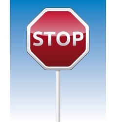 Stop traffic board vector image vector image