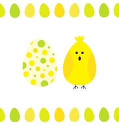 Easter egg background vector image vector image