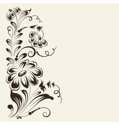 Flower isolated on sepia background vector
