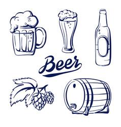 icon set beer vector image