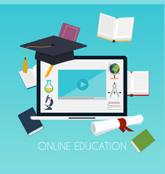 online education concept science concept with vector image vector image