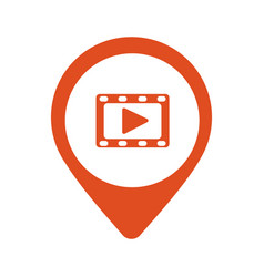 play video red square pointer web icon vector image