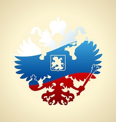 Russian coat of arms double-headed eagle Symbol of vector image