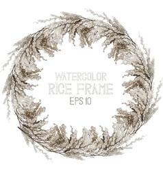 Watercolor cereals wreath vector image