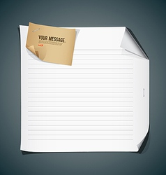 White paper and vintage paper background vector image