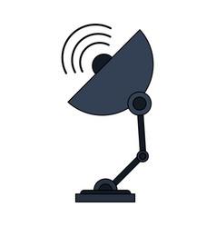 Color image satellite antenna communication vector