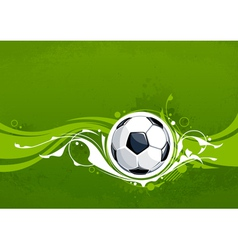 Grunge football background vector image vector image