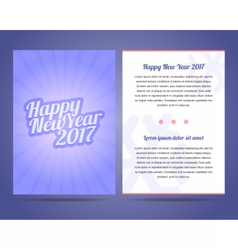 Happy New Year 2017 flyer template vector image vector image