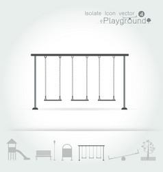playground icon isolate set vector image