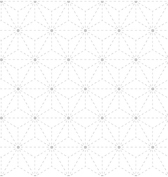 Seamless gray white geometrical pattern vector image vector image