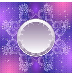 Violet vintage abstract background vector image