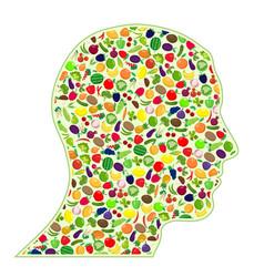 healthy human head vector image