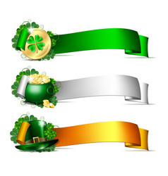 patricks day banners vector image vector image