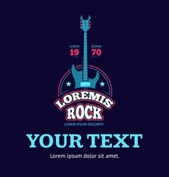 retro rock music club shop sound record studio vector image vector image