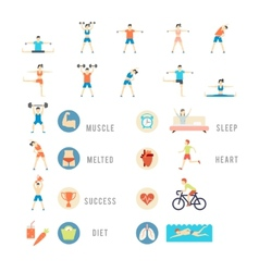 Sports and Health People vector image