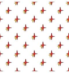 Stars pattern cartoon style vector image