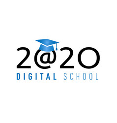 2020 digital school vector
