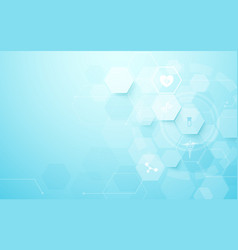 Abstract geometric hexagons shape medicine and vector
