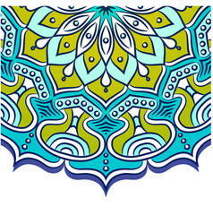Abstract mandala blue background image vector