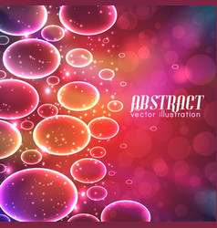 Abstract with bubbles vector