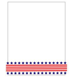 american flag symbols border ribbon vector image