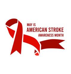 American stroke awareness month vector