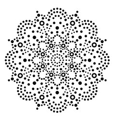 Australian dot art mandala traditional vector
