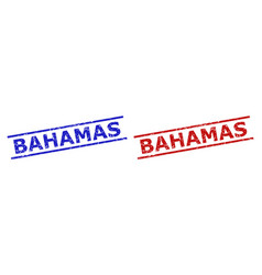 Bahamas stamp seals with grunge style and parallel vector
