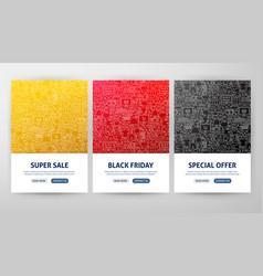 black friday flyer concepts vector image
