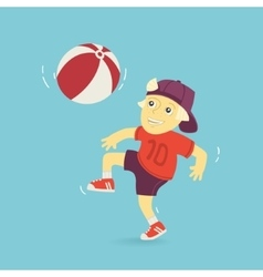 Boy Playing Ball vector