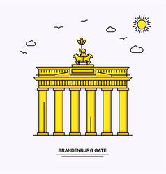 Brandenburg gate monument poster template world vector