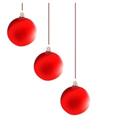 Christmas decoration red balls vector
