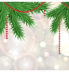 Christmas sparkling background with tree vector