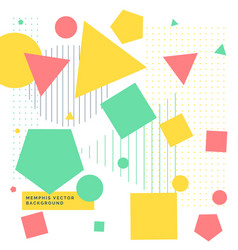 colorful background with geometrical shapes vector image