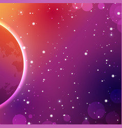 colorful outer space background astrology vector image