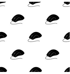 Computer mouse icon in black style isolated on vector