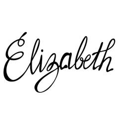 Elizabeth name lettering vector