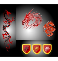 Emblems and dragons vector