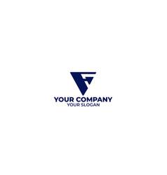 f arrow logo design vector image